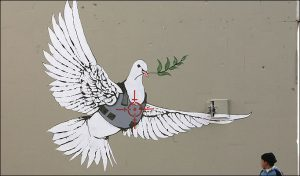Banksy Armoured Dove